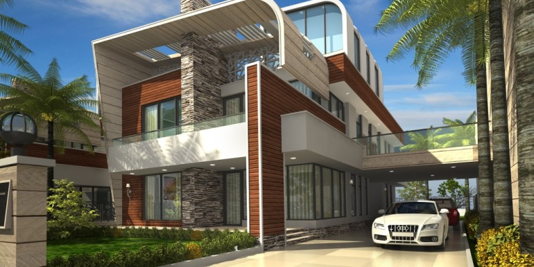 NOIDA WORLD ONE :Bungalow front view
