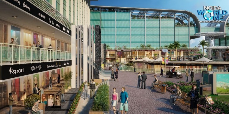 NOIDA WORLD ONE :Retail Corridor